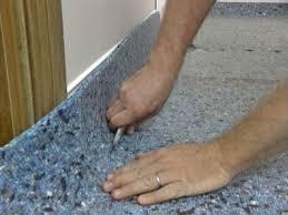 carpet padding. step 6 carpet padding