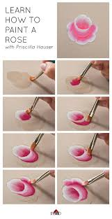 learn how to paint a rose with priscilla hauser super easy step by steps plaidcrafts diy