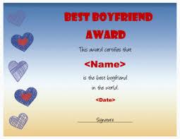 Best Boyfriend Certificate