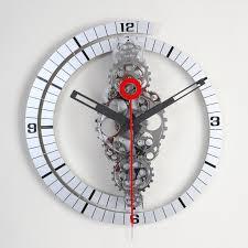 interior wall clock contemporary agreeable projects idea gear modern design heaven digital pendulum clocks black large
