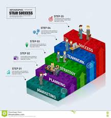 Toy Blocks Chart Business Step Stair Teamwork Infographic