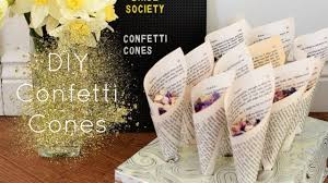 How To Make Paper Cones For Flower Petals Diy Confetti Cones Youtube