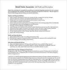 sales associate job description templates – free sample    retail sales associate sample job description free template