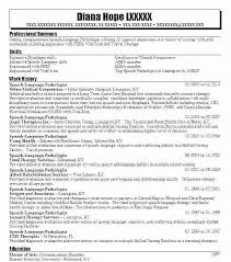 Speech Pathology Resume Extraordinary Speech Pathology Resume Examples Mmventuresco