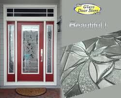 sidelight glass inserts single red front door with double sidelights modern glass door inserts with silver