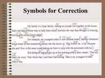 essay correction symbols how do you write a college research essay correction code