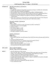 Buffet Attendant Sample Resume Buffet Attendant Resume Samples Velvet Jobs 1