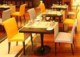 Wood Restaurant Furniture Set Modern Dining Room Tables Black