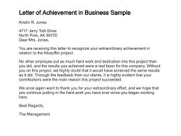 Sample Business Letter Awesome Letter Of Achievement