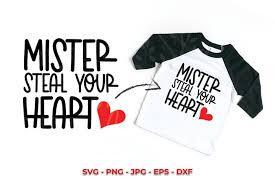 Svg hearts, svg love, svg clipart files. Mister Steal Your Heart Kid S Valentine Svg 1016947 Cut Files Design Bundles