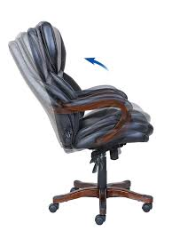 Office Chair Leather Amazoncom Serta Executive Office Chair In Black Bonded Leather