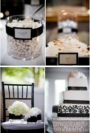 elegant black and white wedding classic black and white winter wedding color scheme tulle