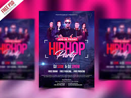 Party Template Free Psd Hiphop Party Invitation Flyer Psd Template By Psd