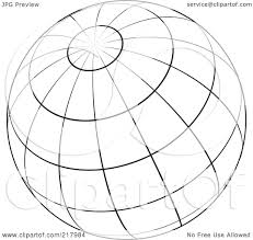 Royalty free rf clipart illustration of a black and white wire