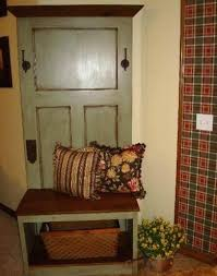 old door hall tree beautiful sage green made from antique and pine barn ideas