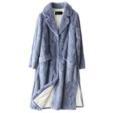 best popular 2018 real mink fur coat women russia winter long thick warm natural mink fur