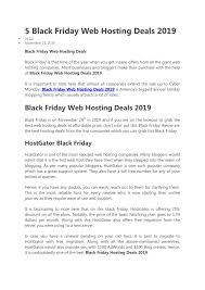 The Help Text Black Friday Web Hosting Deals 2019 Pages 1 5 Text