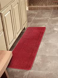 red kitchen rugs. Ottomanson Softy Collection Color Solid (Machine-Washable/Non-Slip) Kitchen/ Red Kitchen Rugs A