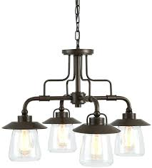 in 4 light mission bronze rustic shaded chandelier style allen roth gazebo