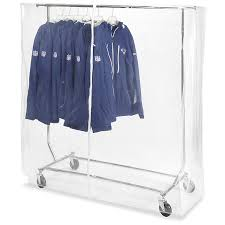 clothes rack with cover regarding vinyl 56 x 60 20 clear s 17933 uline decorations 13