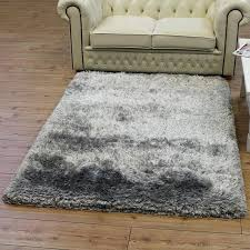 stylish area rugs extraordinary grey plush rug for inside soft ideas thick large