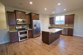 Interesting Light Hardwood Floors With Dark Cabinets Inspiration Design D Throughout
