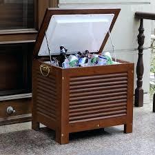wooden outdoor cooler qt patio wood beverage portimao cart wooden outdoor cooler