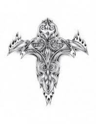 Dočasné Tetování S Tribal Motivy Keltskými Symboly čínskými Znaky