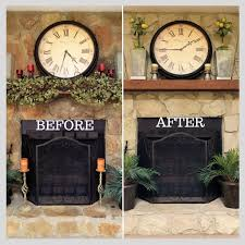painted stone fireplaces before and after part 42 humble u0026 bold