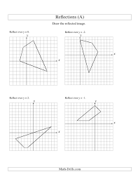 reflections_y4x4_4vertices_001_pin drawing reflections math worksheets on graphing coordinate plane worksheets