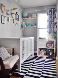 small baby room ideas. Simple Small Bedroom Nursery Ideas With Black White Rugs Baby Room O
