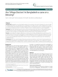 Ssm Doctors Note Pdf Are Village Doctors In Bangladesh A Curse Or A Blessing