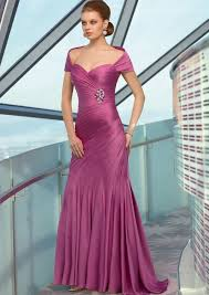 Saison Blanche Size Chart Satin Chiffon Dress And Detachable Stole Colors Raspberry