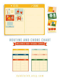 Printable Routine And Chore Chart I To Do Done Chart I Kids Visual Routine I Toddler Chore Chart I Kids Routine Chart I Daily Routines
