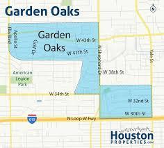incredibly detailed garden oaks houston neighborhood map