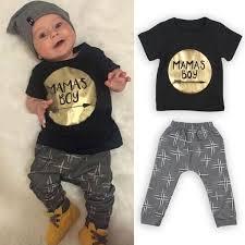 <b>2pcs Newborn Toddler</b> Kids <b>Baby</b> Boys Clothes T-shirt Tops+Long ...