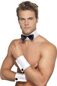 Black male stripper bow tie