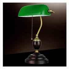 emerald green glass table light power bank desk lamp office red wood lampe vintage e27 reading