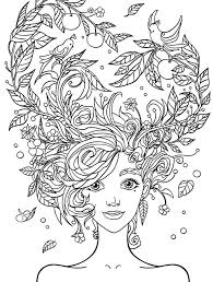 Small Picture 10 Crazy Hair Adult Coloring Pages Page 5 of 12 Free printable