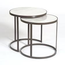 round marble nesting tables metal and marble round nesting tables set of 2 furniture faux