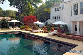 Backyard With Pool Design Ideas Stunning Custom Geometric Rectangular Pool Design Ideas Pictures