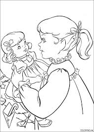 Cute Coloring Page Of Girl With Her Doll American Girl Party Ideas
