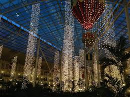 indoor christmas lighting. Gaylord Opryland Resort \u0026 Convention Center: Indoor Christmas Lights At Night Lighting