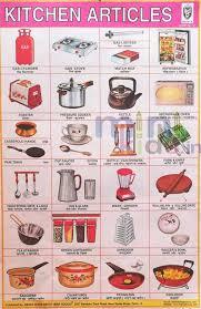 Kitchen Articles Chart Kitchen Articles Chart Number 121 Minikids In