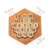 Wooden Math Games Funny Geometric Shape Number Puzzle Children Wooden Number Board 13