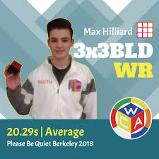 This weekend, Max Hilliard got no less than 2 sub-19s in a 3x3x3 ...