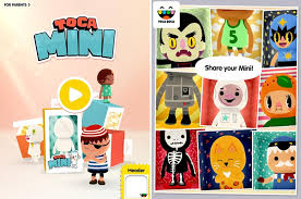 toca mini painting creating funny and crazy dolls with the new toca boca app