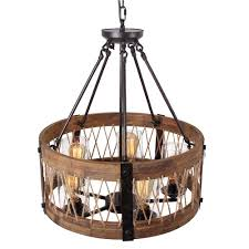 round wooden chandelier with clear glass shade edison bulb pendant lighting fixtures black color iron ceiling lamp for living room schoolhouse pendant