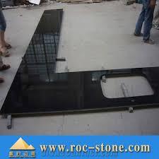 black granite countertop absolute black kitchen top china black granite bar top eased edges kitchen countertop polished custom island top bullnose edges