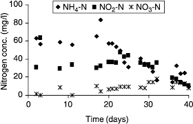 Changes In Nitrogen Concentrations During Partial Nitritation